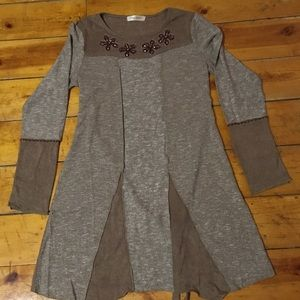 Simply Couture Scoopneck Thin Sweater Dress/Tunic